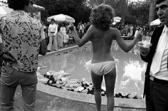 love this vintage shot at the beverly hills hotel. The condom balloons in the pool make it.