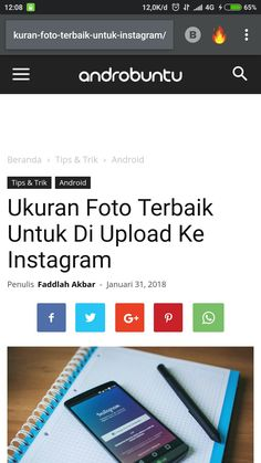Penasaran dengan ukuran foto terbaik untuk Instagram? Baca penjelasannya di androbuntu.com