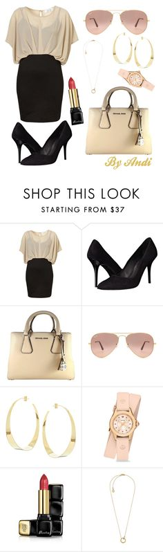 """""""Women Empowerment - Business #2"""" by andi-143 ❤ liked on Polyvore featuring The Kooples, MICHAEL Michael Kors, Ray-Ban, Lana, Michele, Guerlain and Michael Kors"""