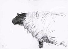 Jason Gathorne-Hardy, Suffolk Ewe Looking Left, White House Farm, Great Glemham, Autumn (2008)