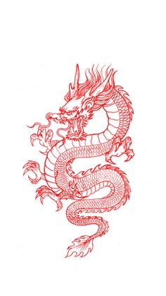 Red Dragon Tattoo, Japanese Dragon Tattoos, Japanese Tattoo Art, Dragon Tattoo Designs, Dragon Wallpaper Iphone, Iphone Background Wallpaper, Mini Tattoos, Small Tattoos, Iphone Wallpaper Tumblr Aesthetic