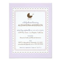 Precious Lavender Custom Baby Shower Invitation