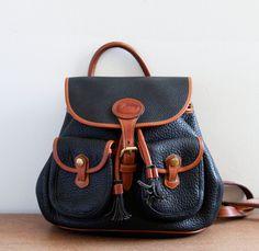 Vintage Dooney & Bourke Leather Backpack by mattieandblanche, 98.00
