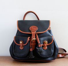 Vintage Dooney & Bourke Leather Backpack
