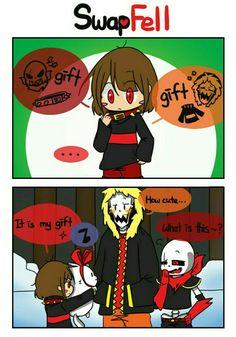 sans, papyrus, frisk - Damn it SW Chara is so cute (づ ̄ ³ ̄)づ