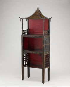 1753-1754 British Standing shelf at the Metropolitan Museum of Art, New York - Yet another great example of the East Asian influence in European decorative arts at this time in history, this shelf is almost fantastical in appearance.  There is no way this could be taken for a Chinese- or Japanese-made piece - the combination of elements is decidedly European, I think.