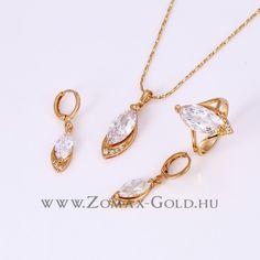Rebeca szett - Zomax Gold divatékszer www. Gold Necklace, Jewelry, Jewellery Making, Jewerly, Jewelery, Gold Necklaces, Jewels, Jewlery, Fine Jewelry