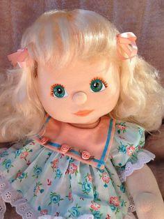 My Child Doll Blonde VPart Aqua Peach