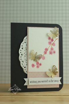 Butterflies and Blossoms Card