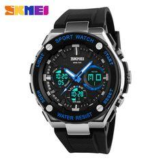 SKMEI 1187 Men Digital Quartz Wristwatches Sport Waterproof Outdoor Clock Alarm Casual Military Big Dial Watch Relogio Masculino