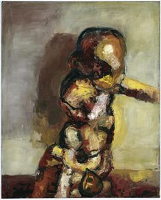 thesavagesgallery:    Georg Baselitz (b.1938)  End of Dream, 1963. Oil on canvas, 162 x 130 cm.  Private collection.