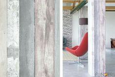 Behang steigerhout print voor themawand