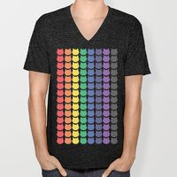 V-neck T-shirt featuring Rainbow Cats by Megan Hillier