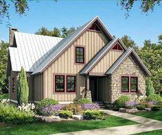 Comfortable Cottage - 58554SV | 1st Floor Master Suite, Butler Walk-in Pantry, CAD Available, Cottage, Loft, Mountain, Narrow Lot, PDF, Vacation | Architectural Designs