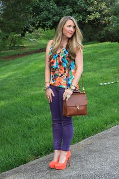 purple and mint colorblock, scarf | Blue, Green, Yellow | Pinterest ...