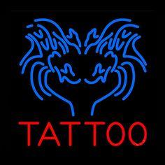 Blue Tattoo Neon Sign Real Neon Light