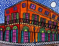 New Orleans Art French Quarter City art Art Print Poster by Heather Galler (HG712)