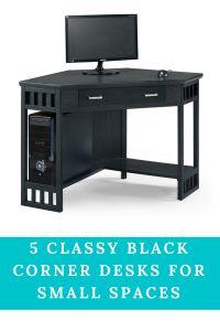 timeless design dfa3e 29b16 11 Best Black Corner Desk For Small Space images | Desks ...