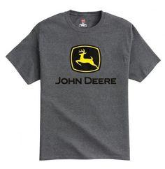cc5e9460 John Deere Womens Shirt - History and Crowns V Neck. See more. Construction  Logo, Green And Grey, Graphic Tees, Polo, Charcoal Gray, Grey
