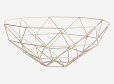 Sd0825 - Skål, Triangle, støvet rosa, dia.: 33 cm, h.: 13,5 cm