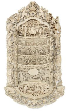 A carved Canton ivory letter rack century Ancient Artefacts, Letter Rack, Les Oeuvres, 19th Century, Bones, Objects, Auction, Chinese, Carving