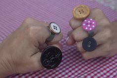 DIY button ring
