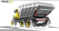 Volvo future truck on Behance