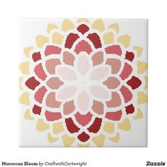 Moroccan Bloom Small Square Tile