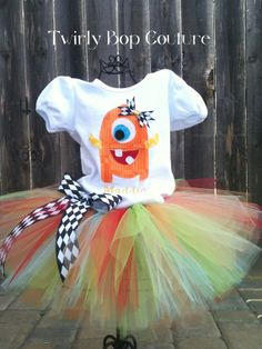 Little Monster birthday party outfit for her brothers party...wouldn't that be cute?