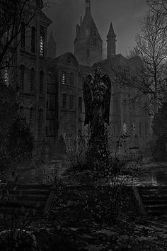 Lady Only In Black Foto Fantasy, Dark Fantasy Art, Dark Art, Gothic Aesthetic, Slytherin Aesthetic, Circus Aesthetic, Black Aesthetic Wallpaper, Aesthetic Wallpapers, Paradis Sombre