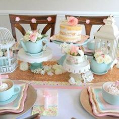 Combined Baby Shower and Bridal Shower Ideas, Joint Bridal Shower and Baby Shower, Baby Shower and Wedding Shower Parties, Mommy to be and Bride to be Bridal Shower Tea, Tea Party Bridal Shower, Shower Baby, Bridal Showers, Baby Showers, Half Birthday, Tea Party Birthday, Tea Party Activities, Girls Tea Party