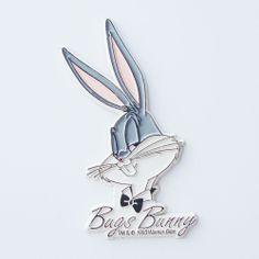 Vintage 90s Warner Bros Looney Tunes BUGS BUNNY Rubber Fridge Magnet