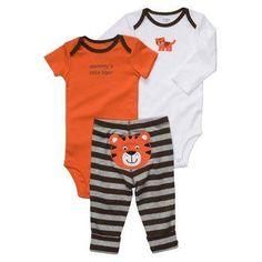 "NWT Carter's Baby Boys ""mommy's little tiger"" Bodysuit Pants 3 Piece Set NEW | eBay"