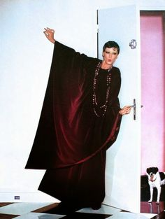 EFF YEAH CAFTAN - Majestic velvet dress by Lanvin, Vogue Paris September 1975