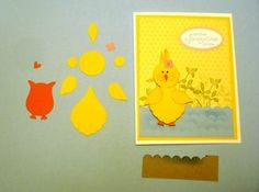 Stampin' Up!  Blossom Petals Punch  Dee Slater  Easter Chick