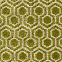 Davenport Kiwi Geometric Cut Chenille Upholstery Fabric