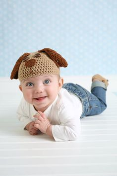 Baby Puppy Hat and Booties Set - CROCHET PATTERN