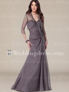 Strapless Chiffon Sweetheart Mother of the Bride Outfit MO060