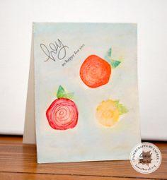 Simon Says Create: watercolored flowers
