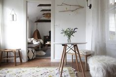 Breakfast table in a Catskills guesthouse by Jersey Ice Cream Co. | Remodelista