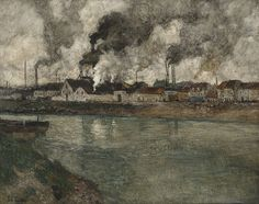 The Athenaeum - The Smoke (Fritz Thaulow - )