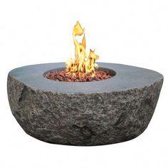 Elementi Boulder Fire Pit Round Fire Pit Table, Outdoor Fire Pit Table, Propane Fire Pit Table, Fire Table, Fire Pit Backyard, Outdoor Living, Dining Table, Gas Fire Pit Kit, Natural Gas Fire Pit