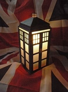 "TARDIS lampshade. I should probably just rename this board ""My obsession with Dr. Who"""