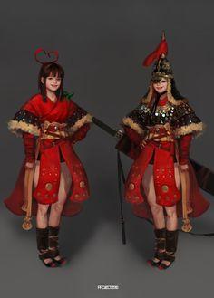 Yi Sun-sin by Jibro Cute Characters, Fantasy Characters, Female Characters, 2d Character, Character Concept, Yi Sun Sin, Game Concept Art, Korean Art, Korean Traditional