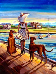 :: Триш Биддл Fine Art :: Начало :: Гламурные Женщины в Fabulous Места :: Кентукки Дерби :: Вестминстерском выставке :: Ева Лонгория
