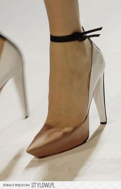 2-toned metallic ankle straps
