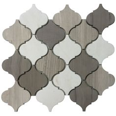 White Stone Moroccan Pattern Mosaic Tile Kitchen Backsplash