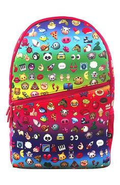 Putting this on the back-to-school wishlist: 'Emoji' Neoprene Backpack from Nordstrom. The colorful prints are so fun and the bag is totally functional, too! Has adjustable straps and lots of storage.