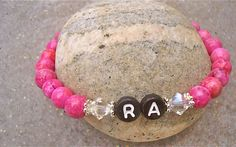 Pretty in Pink, RA Awareness bracelet made with crazy lace agate.