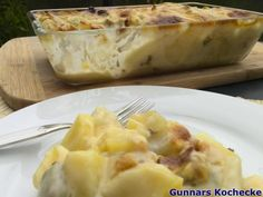 Kohlrabi-Kartoffelauflauf mit Hackfleisch - #Rezept